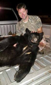 Frankie Sanders killed this 300-pound bruin on Game Management Land during South Carolina's 2017 bear season.