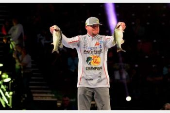 Jason Williamson is currently in 11th place after day one of the 2018 Bassmaster Classic.
