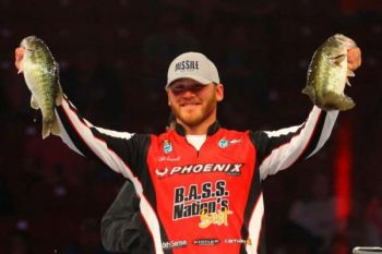 Caleb Sumrall of New Iberia. La. is in 30th place after day one of the 2018 Bassmaster Classic on South Carolina's Lake Hartwell.