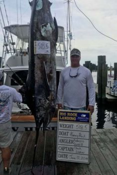 Honey Hush angler Robert Gorrell caught a 518.5-pound blue marlin on day two of the Big Rock Blue Marlin Tournament.