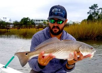 Shane Flannigan of The Reel Deal Charters has been catching plenty of redfish, as well as speckled trout, since the weather has cooled off in the Carolinas.