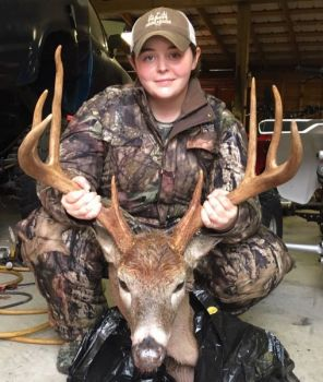 Karley Davidson killed this big 9-point buck on Nov. 13 during a morning hunt in Moore County, N.C.